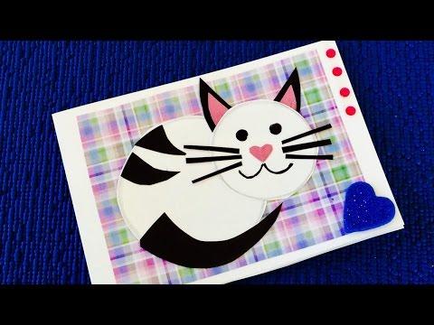 Как сделать открытку котик, открытки удалил благословение