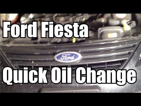 Ford fiesta quick oil change do it yourself youtube solutioingenieria Images