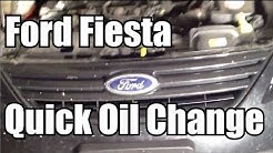 Ford Fiesta Quick Oil Change - Do it Yourself!