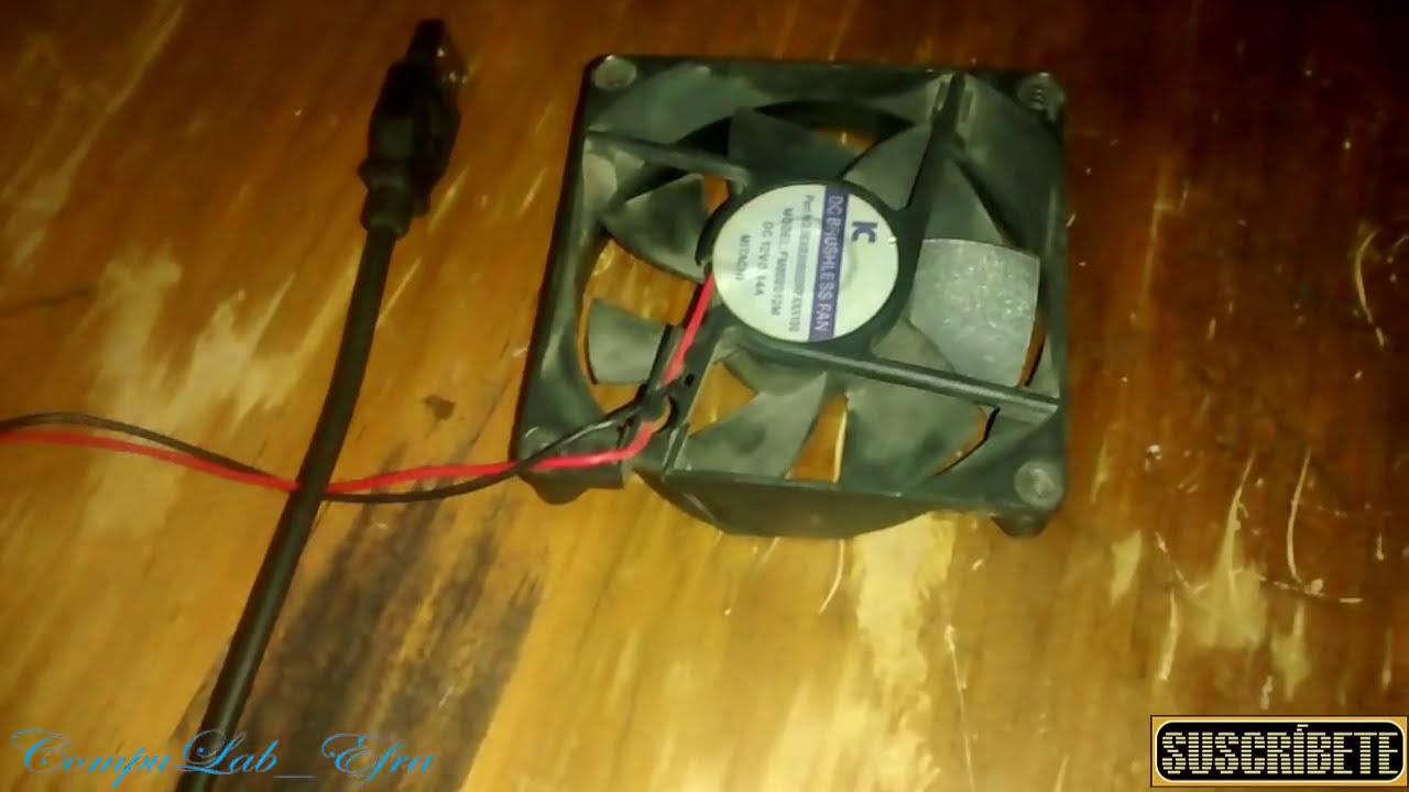 Como hacer un cooler o ventilador para tu pc o laptop o lo - Trabajos caseros para hacer en casa ...