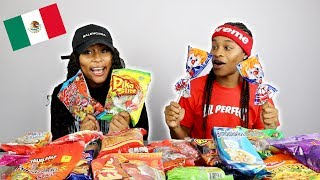 TRYING MEXICAN SNACKS | JAZZ AND TAE