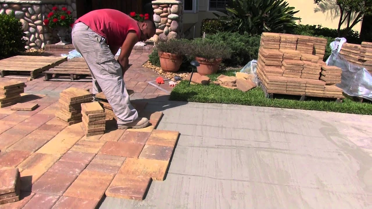 Paver Driveway Installation Tuscan Paving Stone Youtube