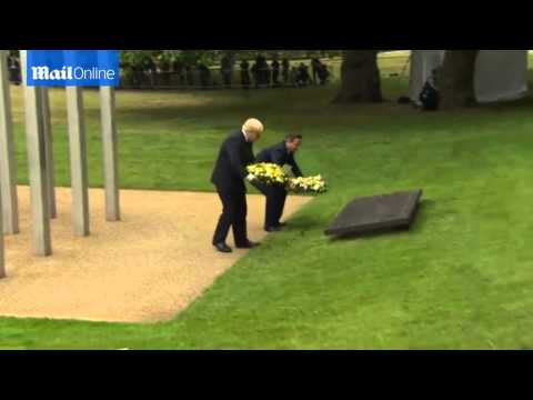 David Cameron and Boris Johnson lay...