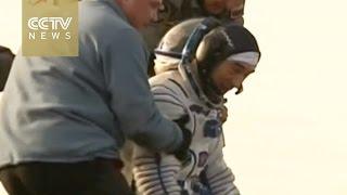 3 Soyuz spacecraft astronauts return to Earth