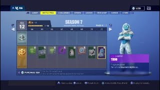 Fortnite Season 7 Battle Pass Tier 71 Trog ist jetzt Johnathen!!! *Lustig*