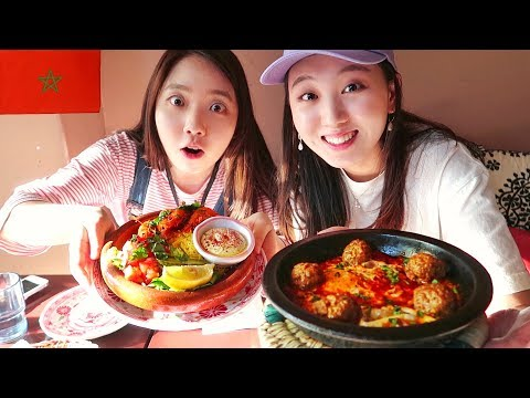 🇲🇦Korean Girls Tried Morrocan Food for the First Time!