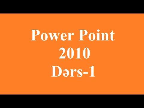 Power Point 2010 Dərs - 1 Azərbaycan Dilində