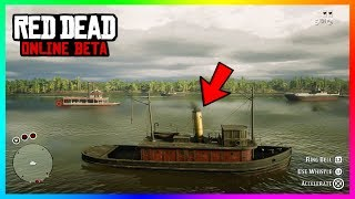 Red Dead Online - RARE VEHICLES! How To Sail The MASSIVE Ships & Boats That Are Normally Locked!