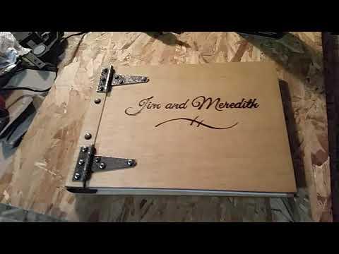Wooden Photo Album or Wedding Guestbook