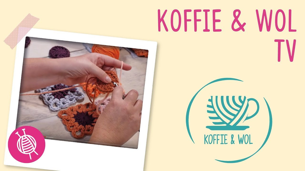 Koffie Wol Granny Square Haken Youtube