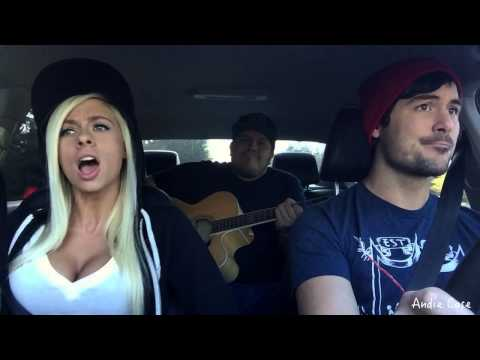 Andie Case car video! [Jason Derulo - want to want me] NEW MASHUP!