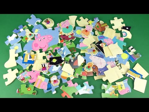 Peppa Pig Wooden Puzzles Compilation video for kids