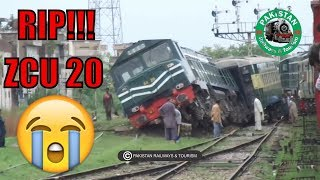 105 UP RAWAL EXPRESS DERAILED || TRAIN ACCIDENT IN PAKISTAN