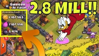 HUGE LOOT!! 2.8 MILLION :: Miner Strategy VS Ring Base in Clash Of Clans