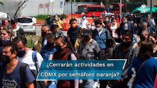 Este viernes se informó que la Ciudad de México regresa a semáforo epidemiológico naranja, del 26 de julio al 1 de agosto