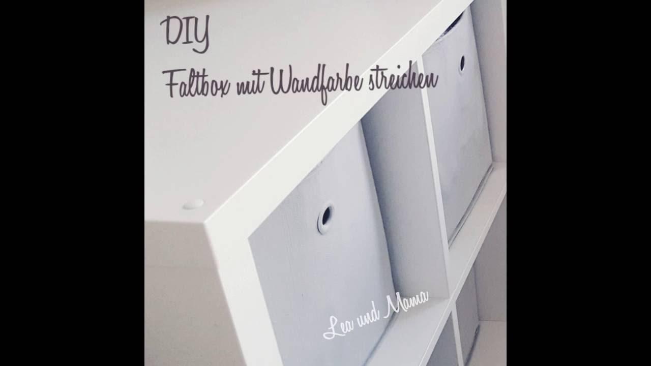 DIY Faltbox mit Wandfarbe streichen - YouTube