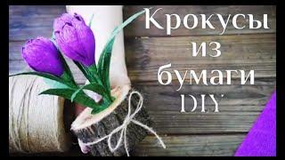 крокусы из бумаги DIY МК / Букет из конфет / How to make paper flowers / Цветы из бумаги / 100 ИДЕЙ
