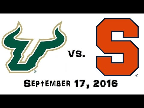 September 17, 2016 - South Florida Bulls vs. Syracuse Orange Full Football Game