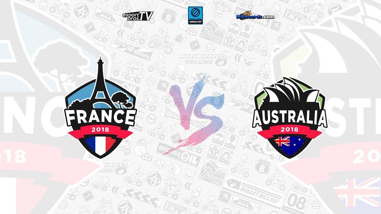 mario kart world cup 2018 - france vs australie