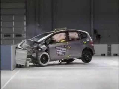 Crash Test 2009 Honda Fit Aria Jazz Frontal Impact Iihs Youtube