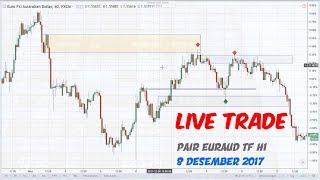 Live Trade EURAUD 8 Des 2017 (Fake Out Setup)