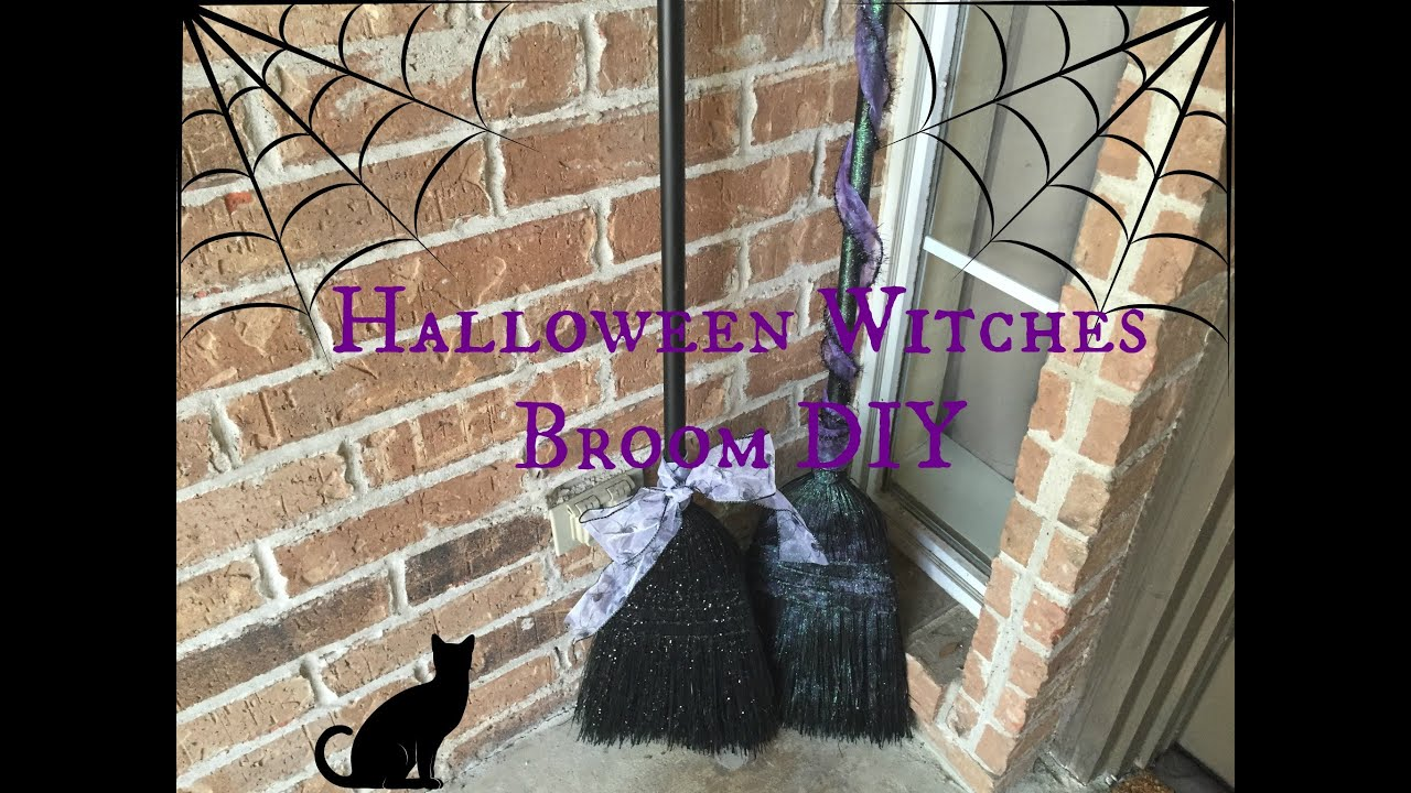 Halloween witches broom front porch decor diy youtube solutioingenieria Images