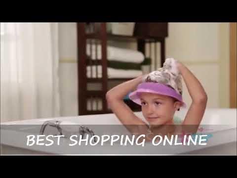 Safe Shampoo Baby Shower Cap Bathing Bath Protect Soft Hat For Kids Video