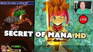  Secret of Mana LIVE - HD Remake 2018 (Part 1: Opening & Water Palace)