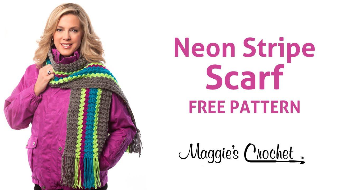Deborah Norville Yarn Free Crochet Patterns : Deborah Norville Every Day Soft Yarn Neon Stripe Scarf ...