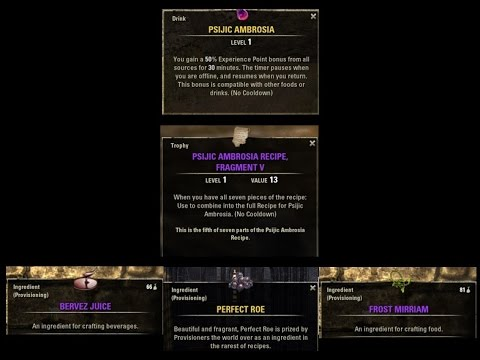 Elder scrolls online on console how to get psijic ambrosia recipe elder scrolls online on console how to get psijic ambrosia recipe fragments forumfinder Image collections
