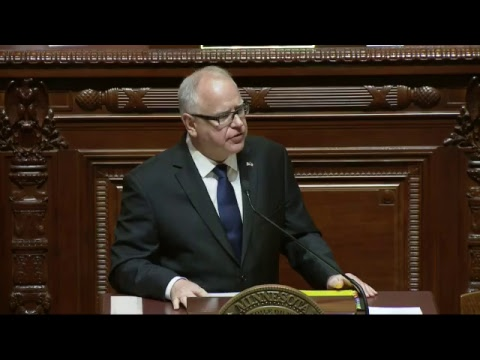 WATCH LIVE: Gov. Tim Walz gives his first State of the State Address