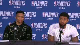 Russell Westbrook & Paul George Postgame Interview - Game 1 | Thunder vs Blazers | 2019 NBA Playoffs