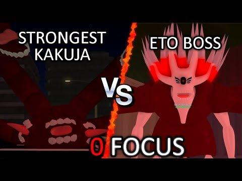 The Strongest Kakuja (NoroK1) vs Eto Boss in Ro-Ghoul with ZERO FOCUS STATS
