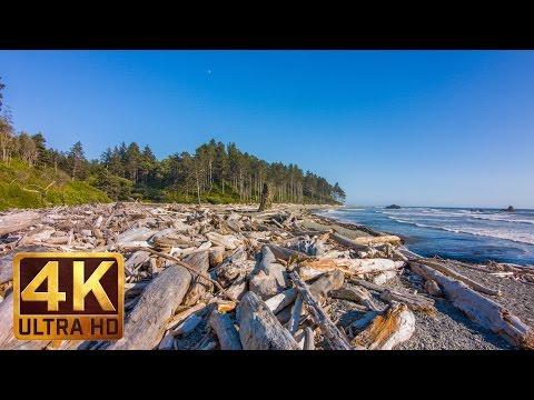 Ruby Beach Summertime, 4K Ultra HD Relaxation Video, Olympic Peninsula's Views, WA (3 Hours)
