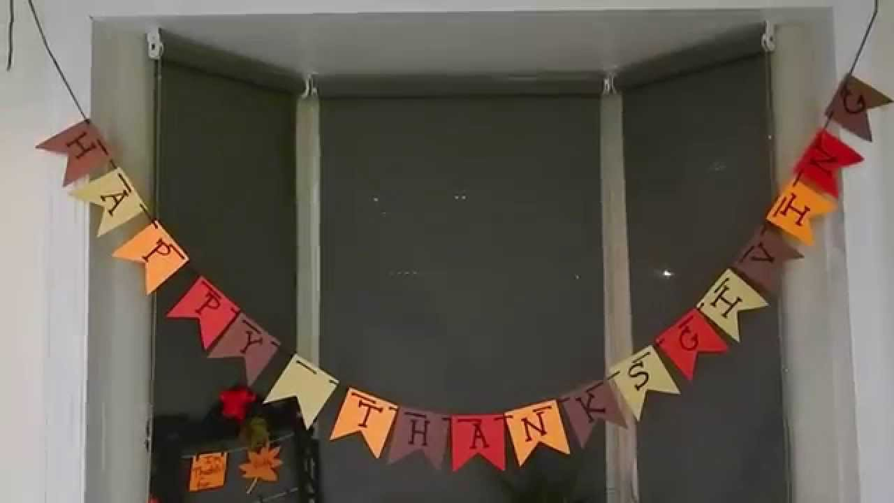 Delightful Diy Thanksgiving Decorations Part - 4: Easy Last-Minute DIY Thanksgiving Decorations - YouTube
