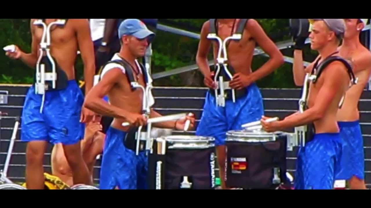 Shirtless And Marching To His Own >> Bluecoats 2013 Drumline Rehearsal Drums Across The Tri State
