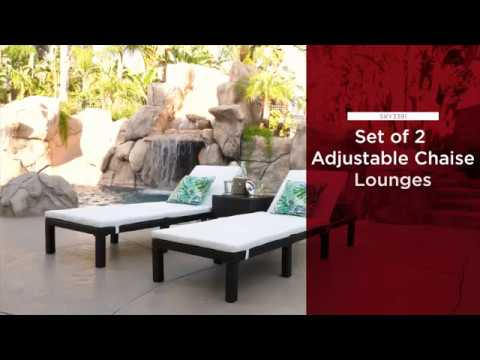 SKY3391 Set of 2 Adjustable Chaise Lounges