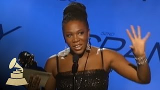 India Arie accepting the GRAMMY for Best Urban/Alternative Performance