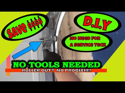 Garage Door Top Roller Out Of The Track   SAVE MONEY