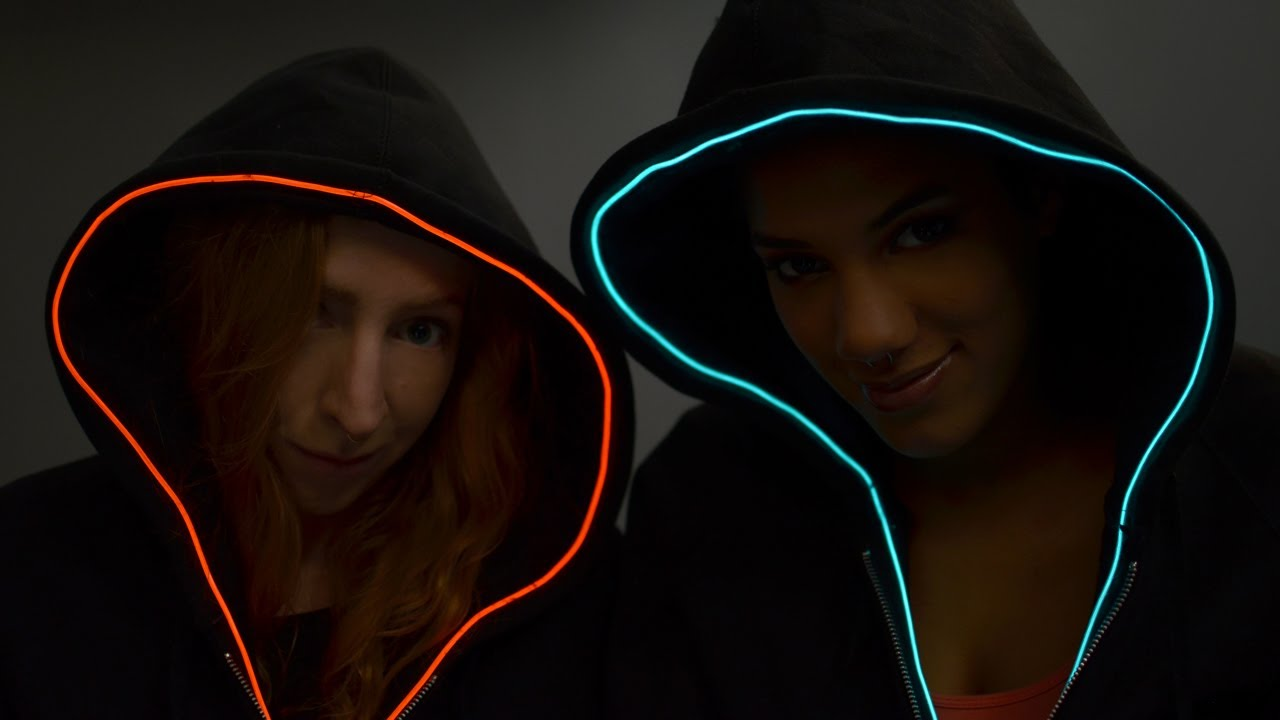 TRON Hoodie with EL Wire - YouTube