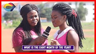What is the EIGHT MONTH of the year? | Street Quiz | Funny Videos | Funny African Videos