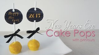 New Years Eve Gold Cake Pops Tutorial With Downloadable Discs To Print
