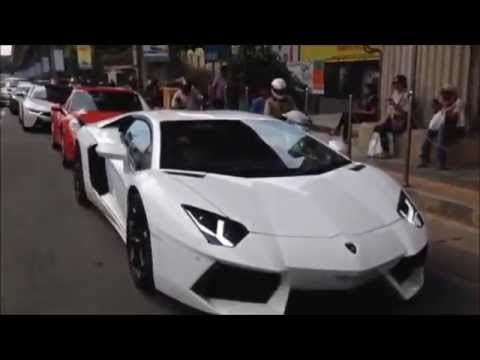 Supercars in M.G.Road, Bangalore