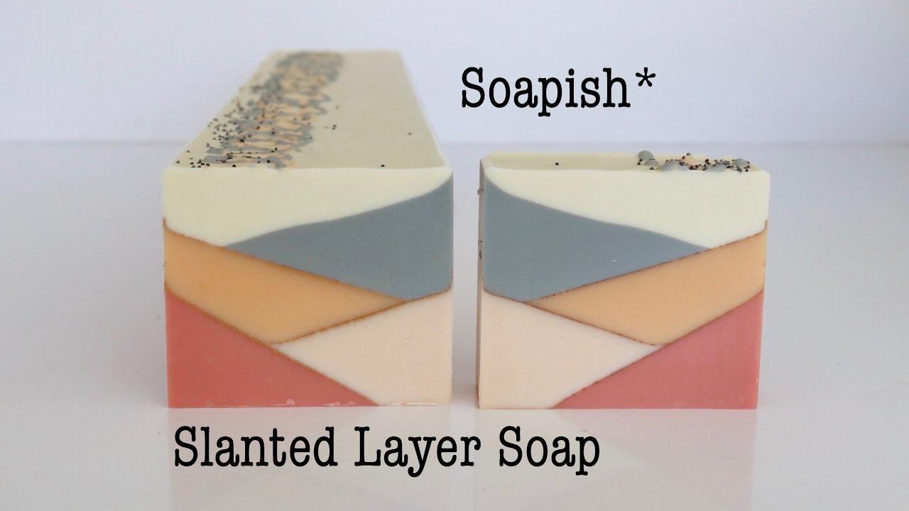 Slanted Layer Soapmaking And Cutting Soapish