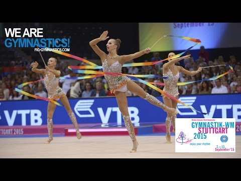 2015 Rhythmic Worlds, Stuttgart (GER) - Highlights 5, Groups All-Around Final  - We Are Gymnastics !
