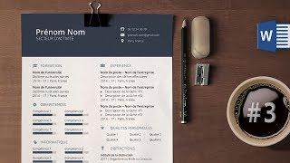 Réaliser un CV moderne sous Microsoft Word #3