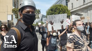 Not all protests were violent: Downtown L.A. march peaceful on Sunday
