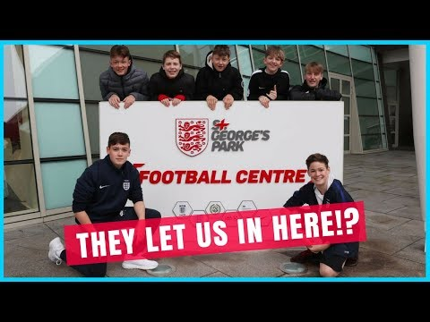 THEY LET US IN HERE?! (TRAINING AT ST. GEORGE'S PARK, ENGLAND'S TRAINING GROUND)   MAX & HARVEY