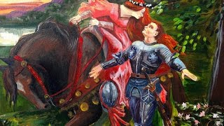 How to paint Pre-Raphaelite | La Belle Dam Sans Merci | Valentines Angelooney