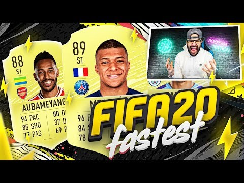 TOP 10 FASTEST PLAYERS IN FIFA 20!! FIFA 20 Ultimate Team - 동영상